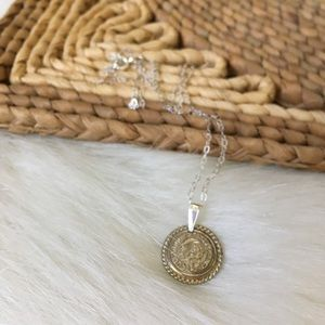 Vintage Chanel Button Necklace Sterling Chain